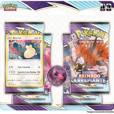 Pokémon TCG: Reinado Arrepiante Blister Quádruplo: Snorlax (PT)