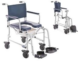 Cadeira sanitária ou banho c/ rodizios Lima