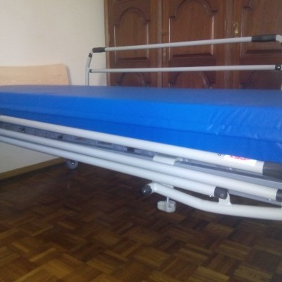 Cama Hospitalar Fantasy + Guardas + Colchão Anti Escaras