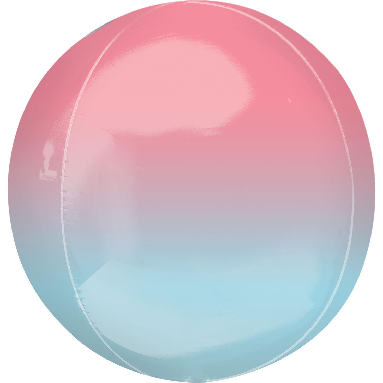 Balão Orbz Ombre Rosa Azul