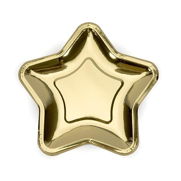 Pratos Estrela Dourada Pequenos