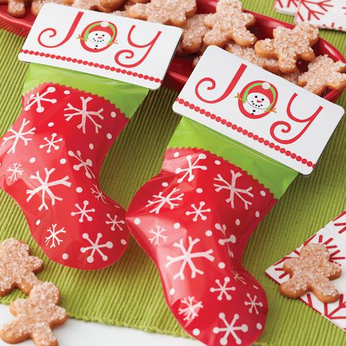 Conj. 6 Sacos Natal Meias