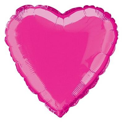 Balão Coração Rosa Forte