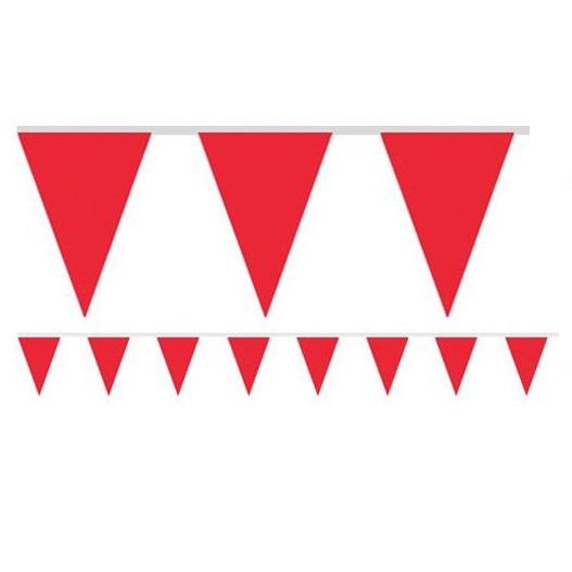 Bandeirolas Papel Vermelho Lisas