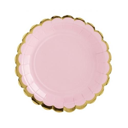 Pratos Rosa e Dourado