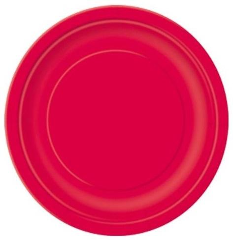 Pratos Vermelhos Pequenos