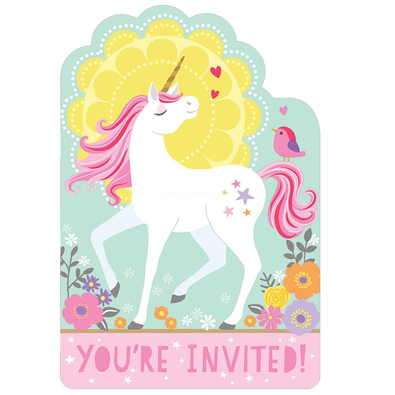 Convites Unicórnios