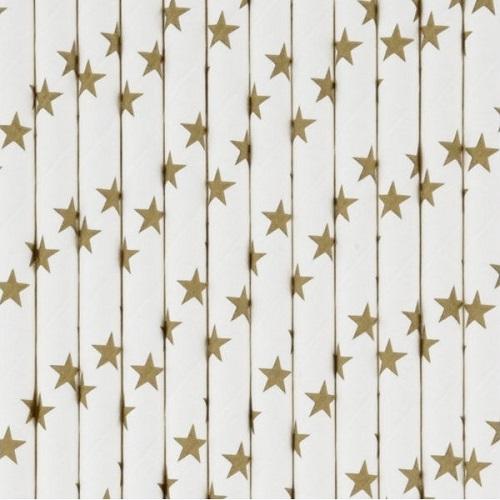 Palhinhas Dourado Estrelas -  Conj. 25