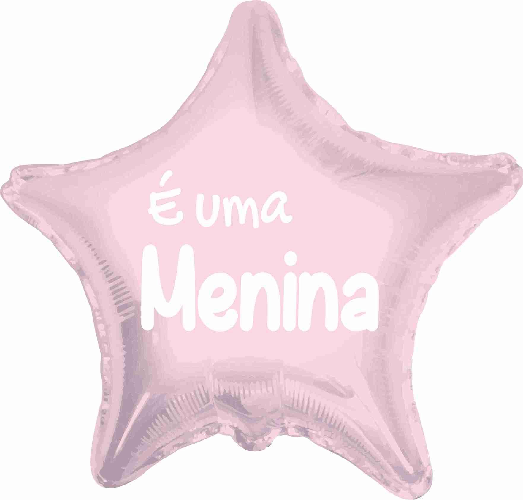 Balão Estrela É Uma Menina