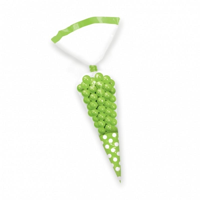 Saco Cone Bolinhas Verde
