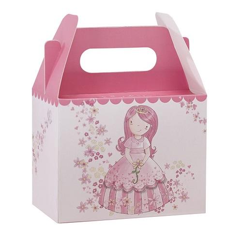 Conj. 5 Caixas Princesa Rosa