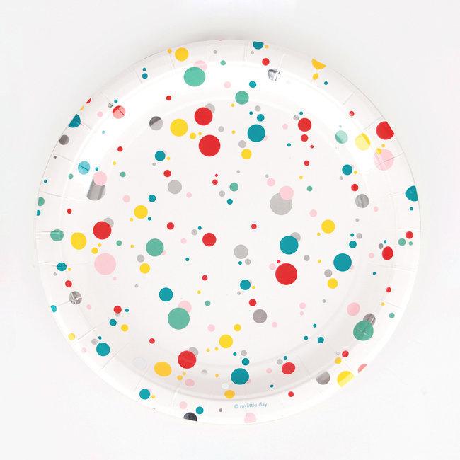 Pratos Confetis Coloridos