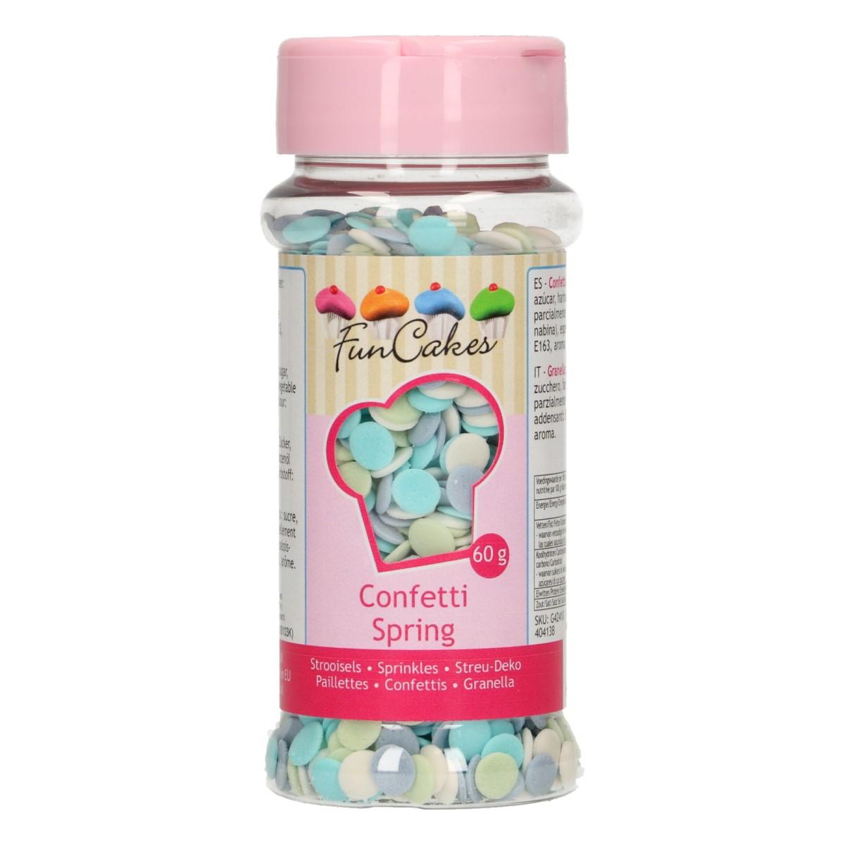 Confetis Açúcar Azul Pastel
