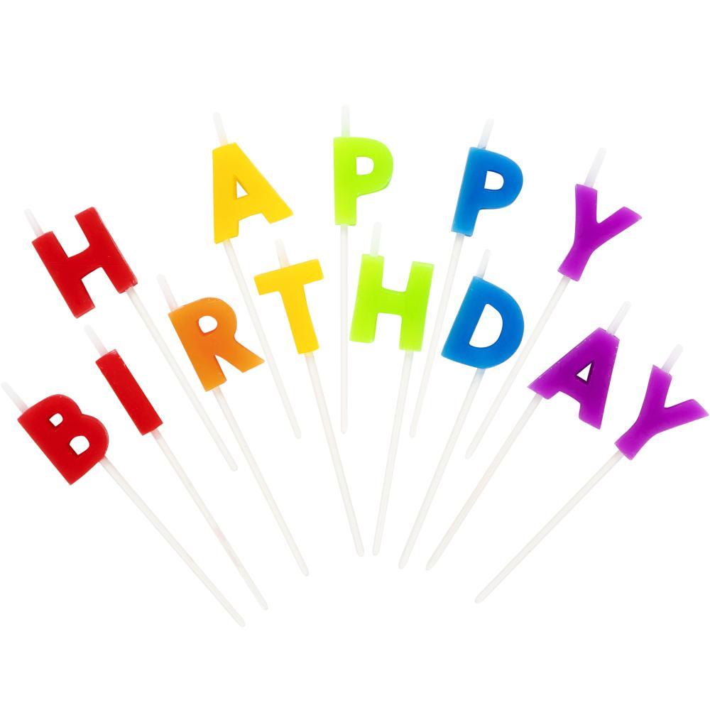 Velas Happy Birthday Rainbow