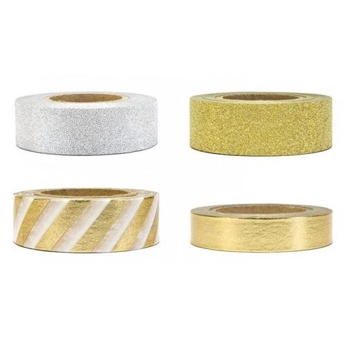 Washi Tape Gold Silver Gliter