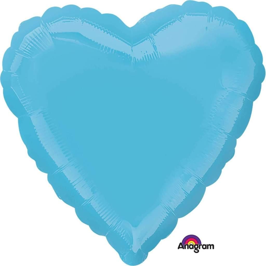 Balão Coração Azul Claro