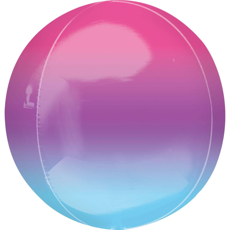 Balão Orbz Ombre Rosa Lilás Azul