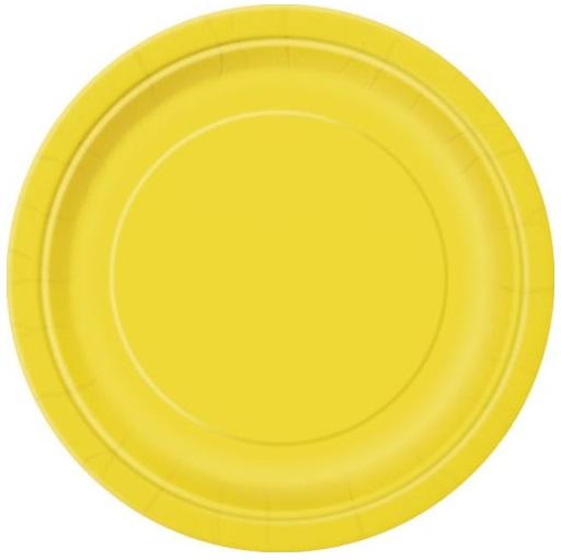 Pratos Amarelo Grandes