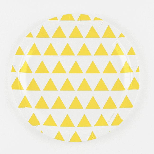 Pratos Amarelo Triângulos