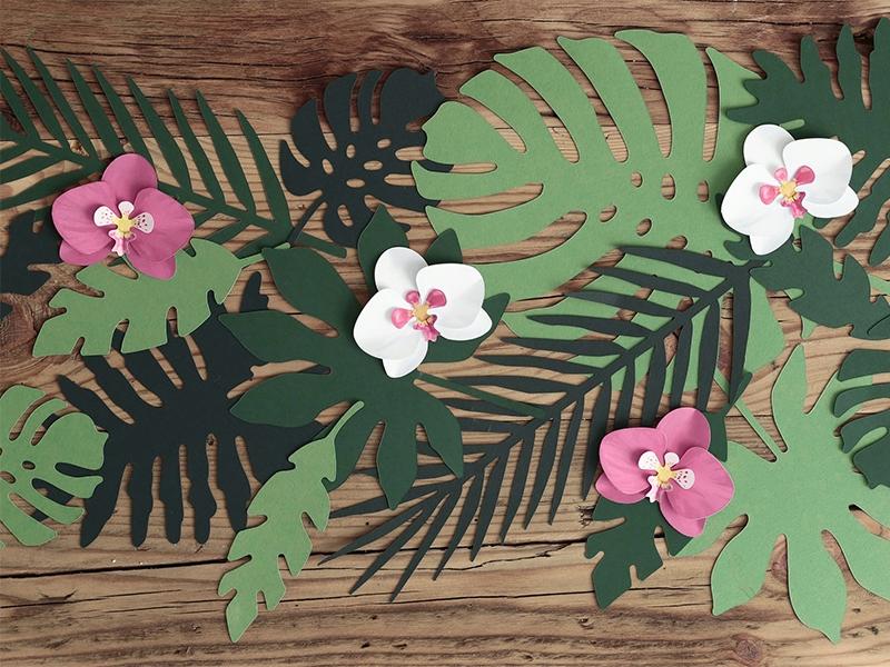 Conj. 21 Folhas Decoração