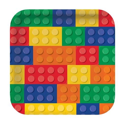 Pratos Lego Quadrados Grandes