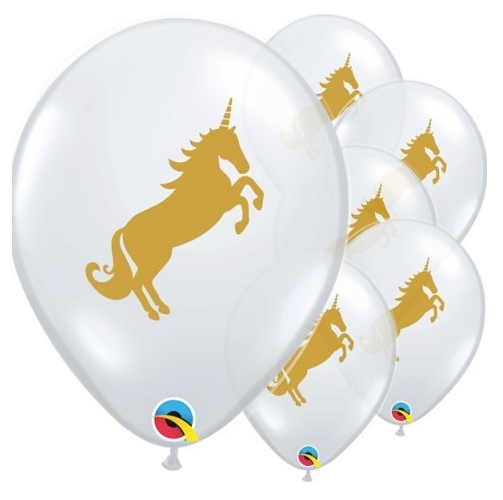 Conj. 5 Balões Unicórnio