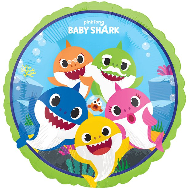 Balão Baby Shark Médio