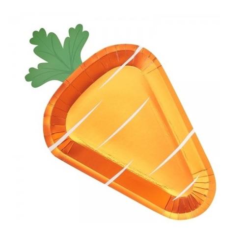 Conj. 8 Pratos Grandes Cenoura