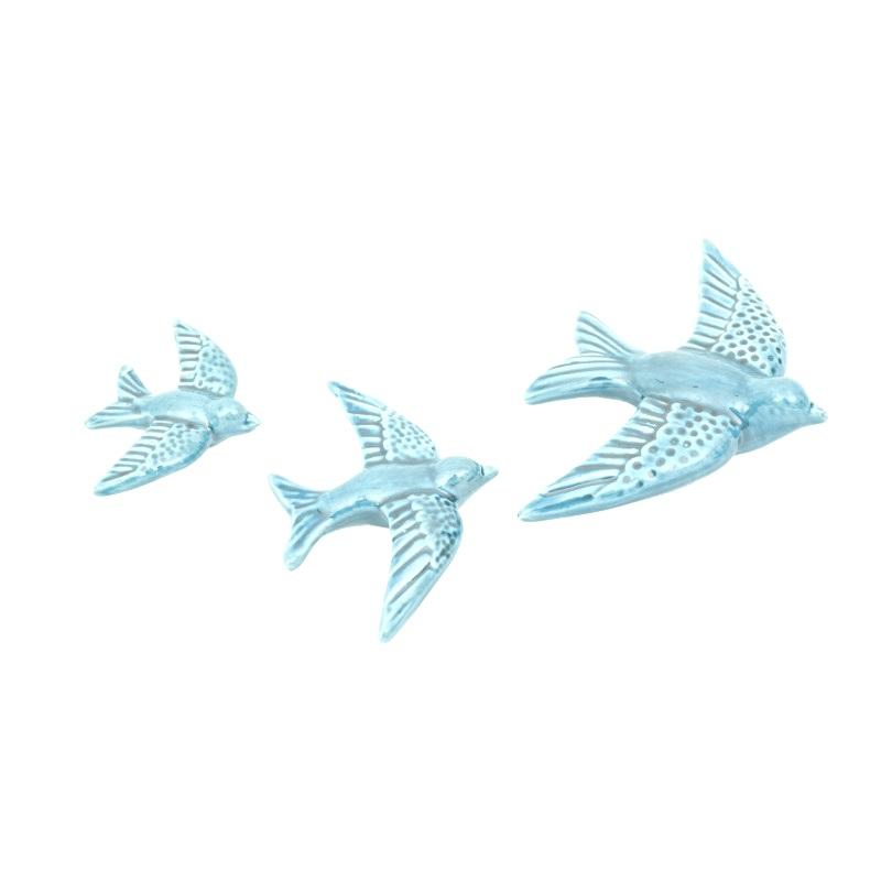 Conj. 3 Andorinhas Azul