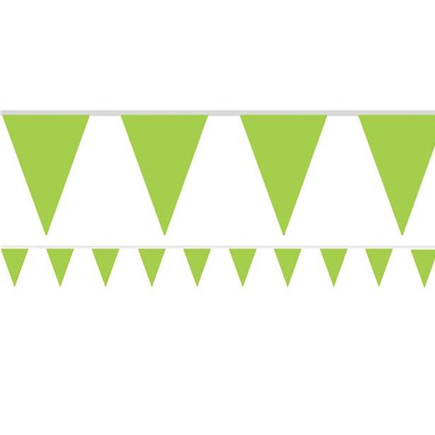 Bandeirolas Papel Verde Claro Lisas