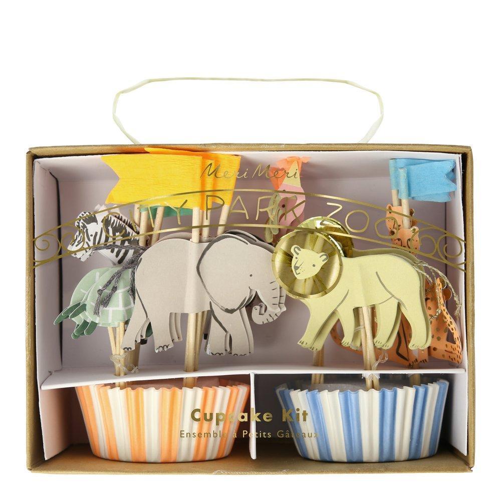 Kit Cupcakes Animais da Selva