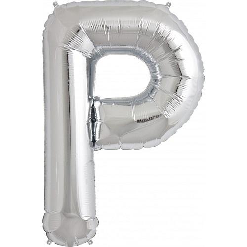 Balão P Prateado