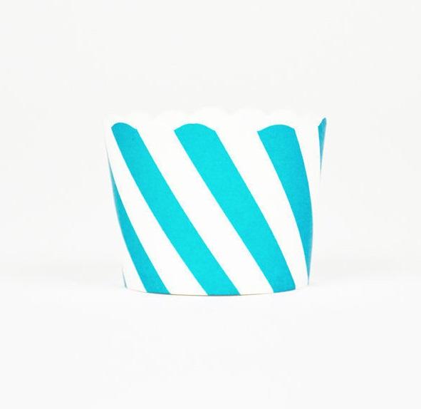 Conj. 25 Formas Azul Turquesa Diagonal