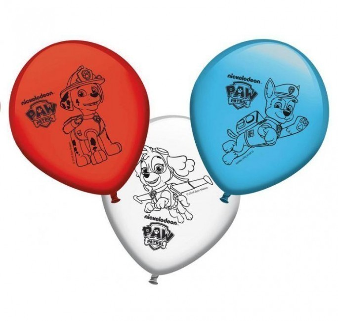 Conj. 8 Balões Patrulha Pata