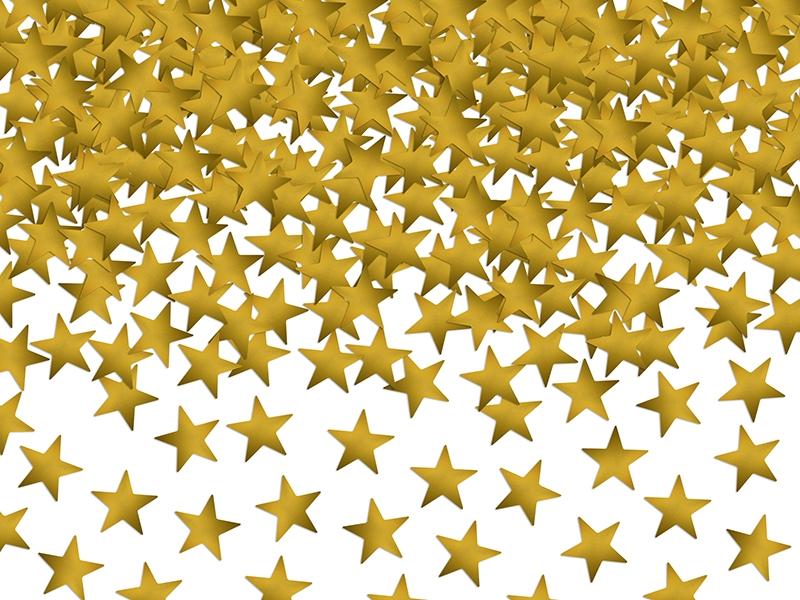 Confetis Estrelas Douradas