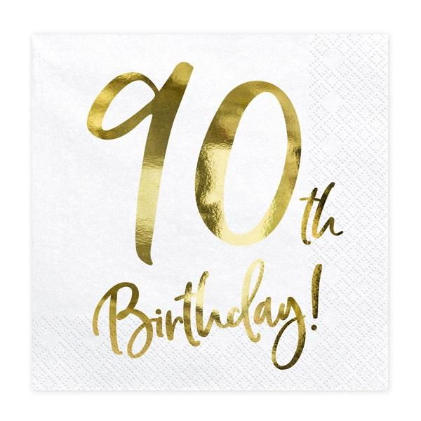 Guardanapos 90th Birthday