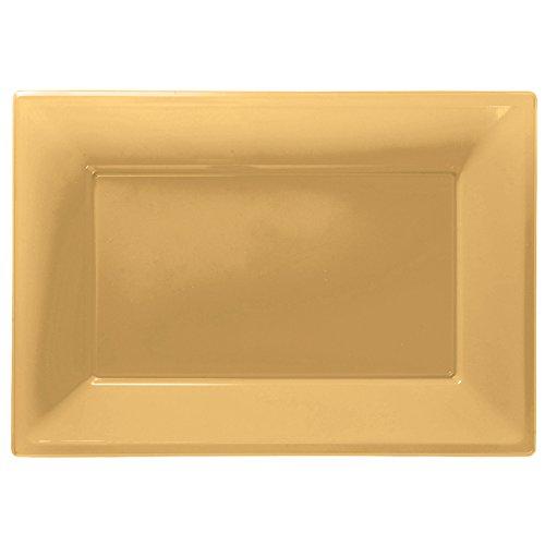 Travessas Dourado Plástico
