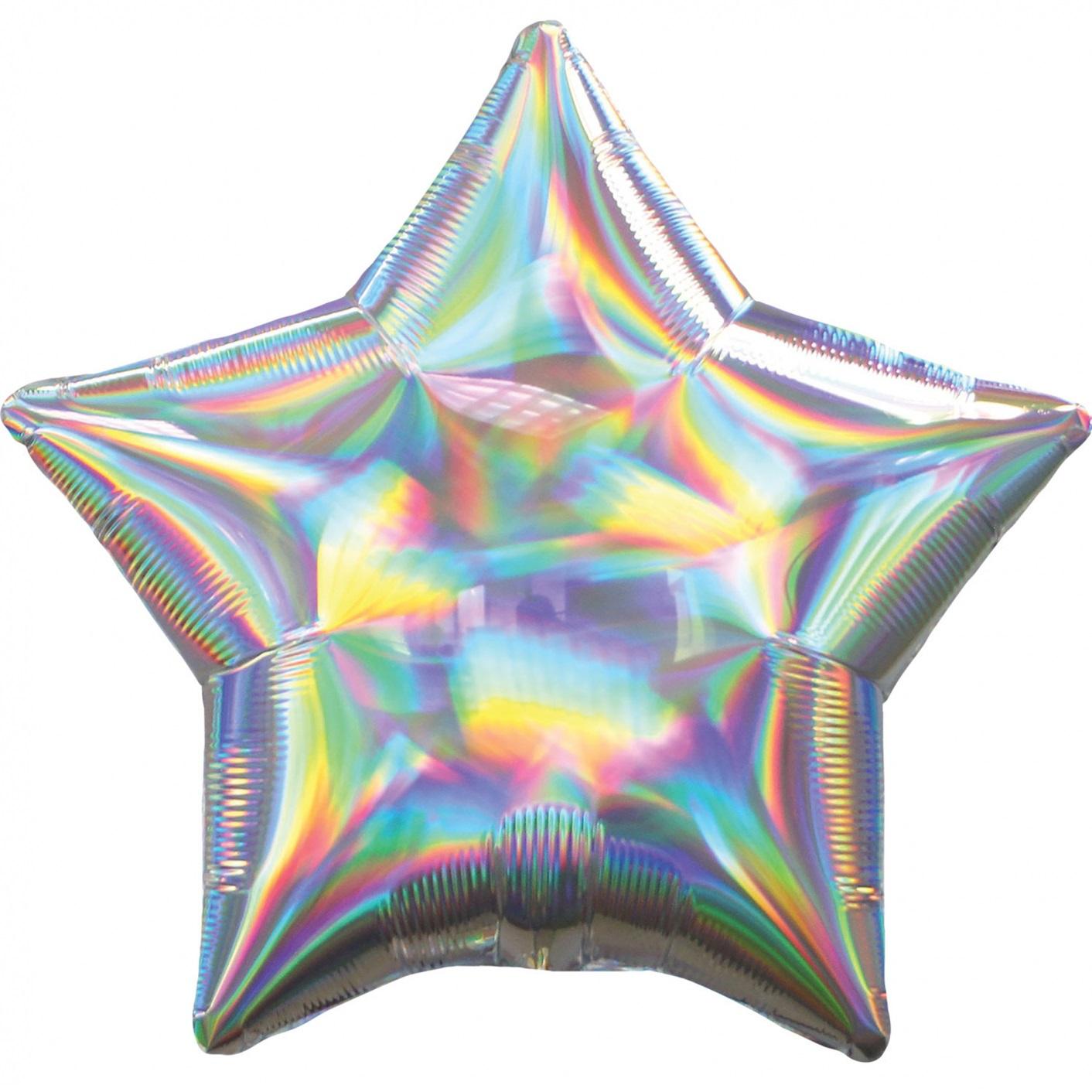 Balão Estrela Iridiscente