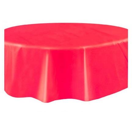 Toalha Vermelha Redonda