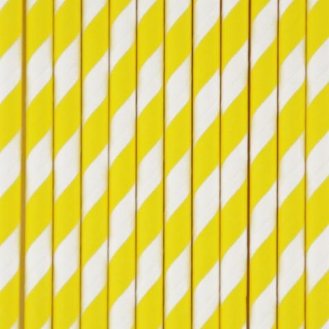Palhinhas Amarelo Riscas -  Conj. 25