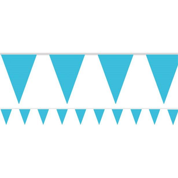 Bandeirolas Papel Azul Claro Lisas