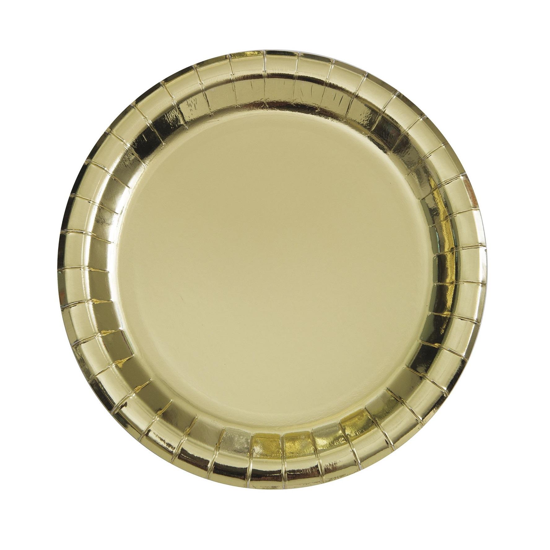 Pratos Dourados Metálico Lisos Pequenos