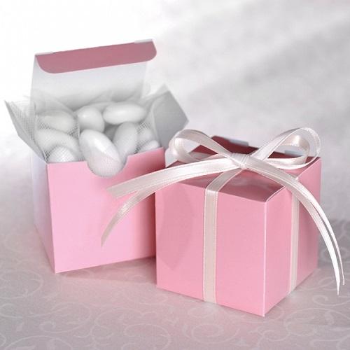 Mini Caixinhas Quadradas Rosa