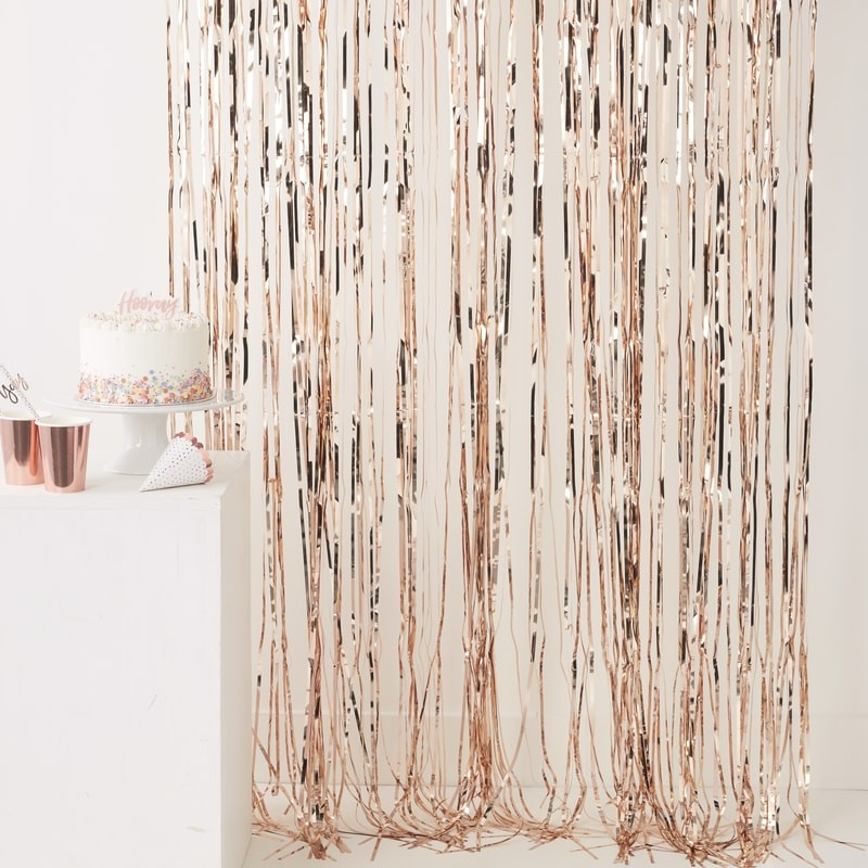 Fundo Cortina Rose Gold