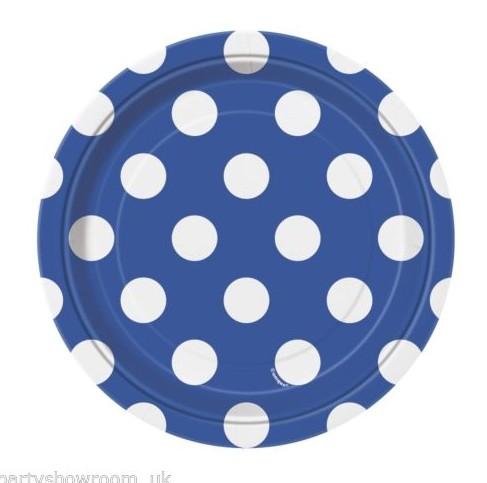 Pratos Azul Escuro Bolas Pequenos