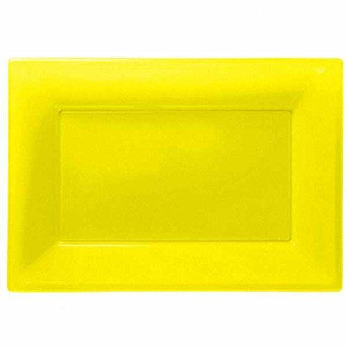 Travessas Amarelo Plástico