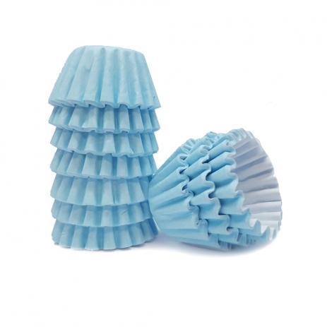 Conj. 100 Mini Forminhas Azul Claro
