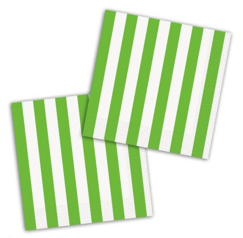 Guardanapos Verde Riscas