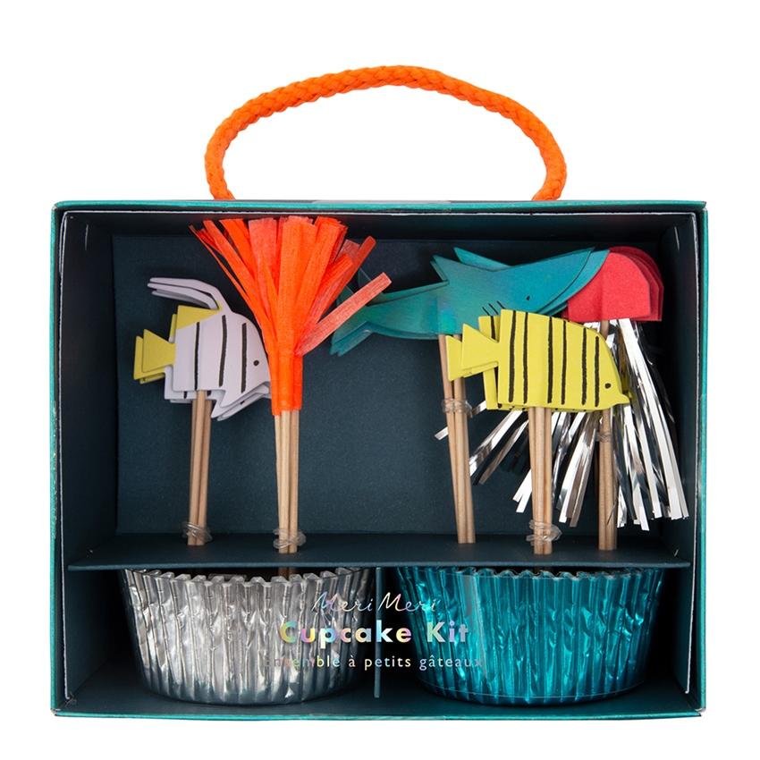 Kit Cupcakes Fundo do Mar