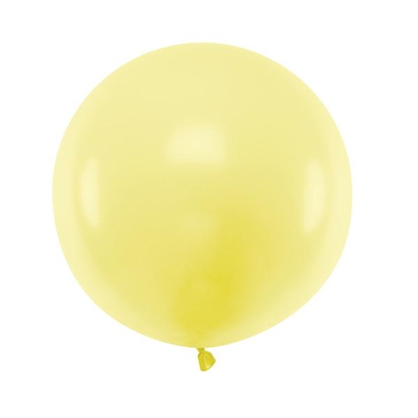 Balão Amarelo Pastel 60cm Grande